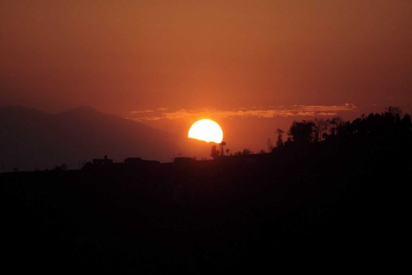 sunrise in Dhulikhel